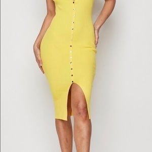 Canary Button Down Dress